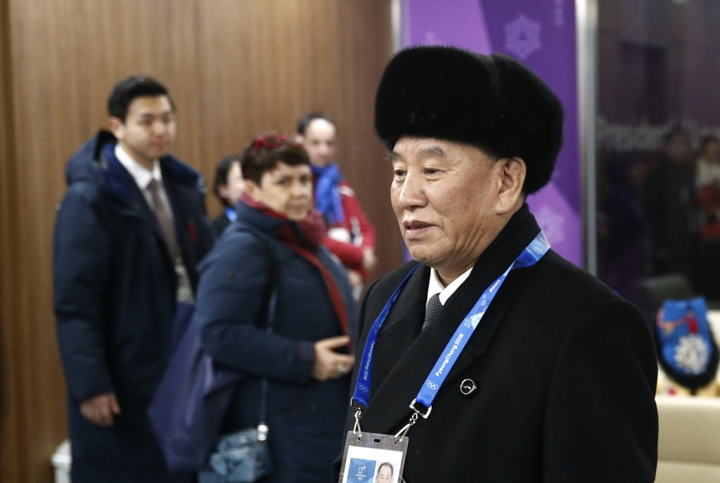 Kim Yong Chol, vice chairman of North Korea's ruling Workers' Party Central Committee, arrives at the closing ceremony of the 2018 Winter Olympics on February 25, 2018 in Pyeongchang, South Korea.