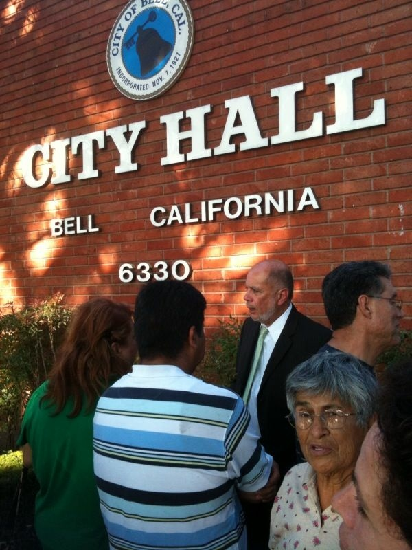 Bell residents wait as the city council deliberates the fate of three top administrators.