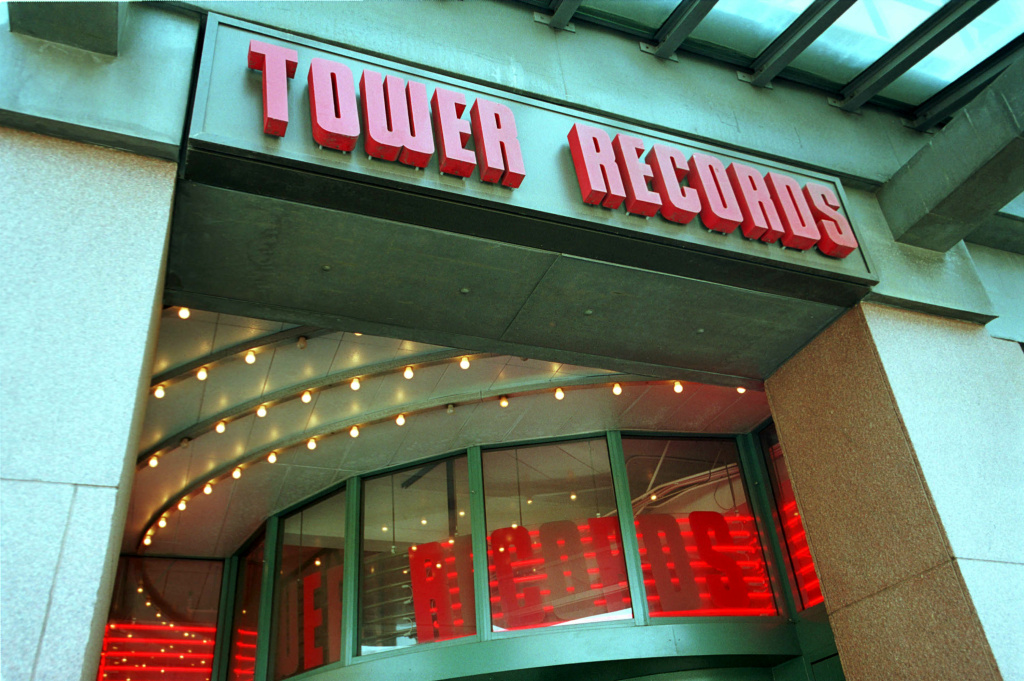 A Tower Records store is shown June 26, 2001 in Cambridge MA.