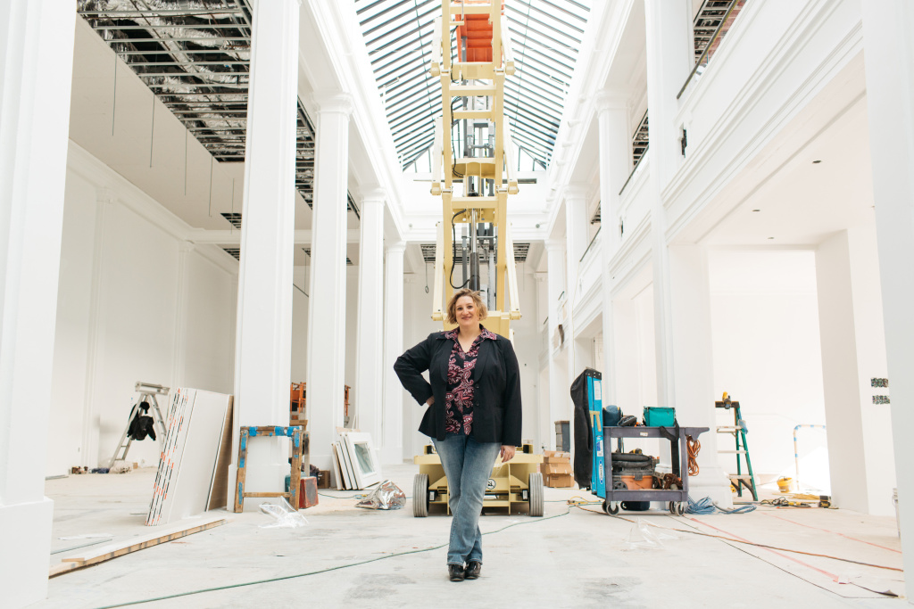 Jenni Sorkin, art historian, critic, and Assistant Professor of Contemporary Art History at the University of California, Santa Barbara. Sorkin is co-curator of Hauser Wirth & Schimmel's inaugural show,