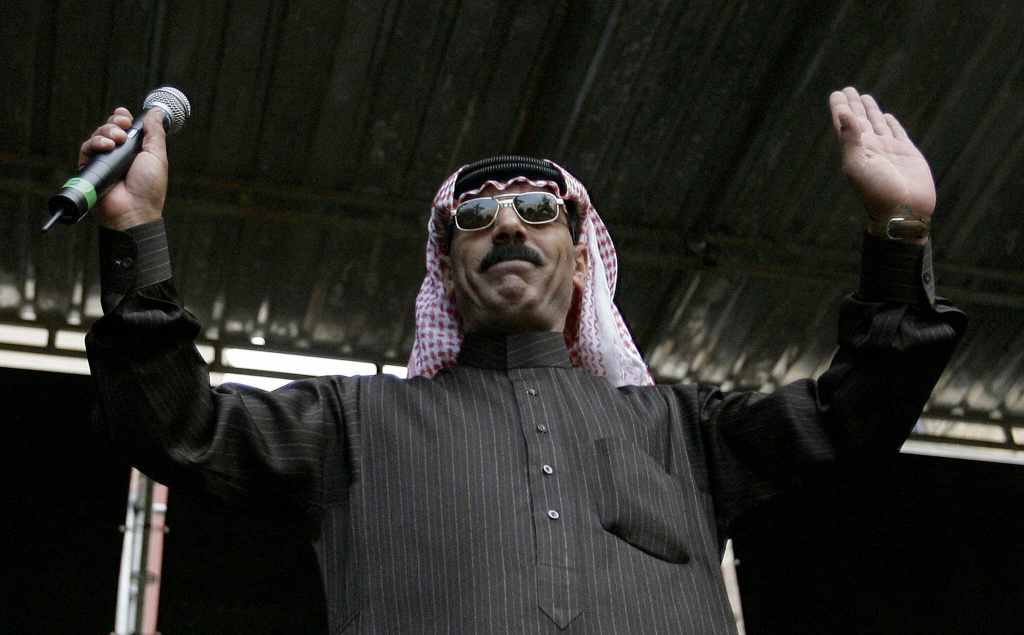 Syrian musician Omar Souleyman, performs at the 16th Sonar Festival in Barcelona on June 19, 2009, an annual festival of electronic music and multimedia arts running from June 18-20, 2009.