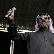 Syrian musician Omar Souleyman, performs
