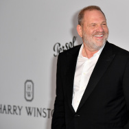 Producer Harvey Weinstein.       (Photo credit should read ALBERTO PIZZOLI/AFP/Getty Images)