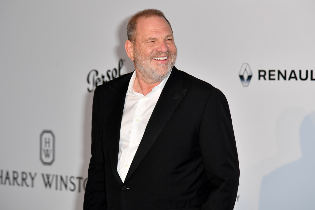 US producer Harvey Weinstein poses as he arrives for the amfAR's 24th Cinema Against AIDS Gala on May 25, 2017 at the Hotel du Cap-Eden-Roc in Cap d'Antibes, France.