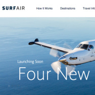 A screen grab from the Surf Air website