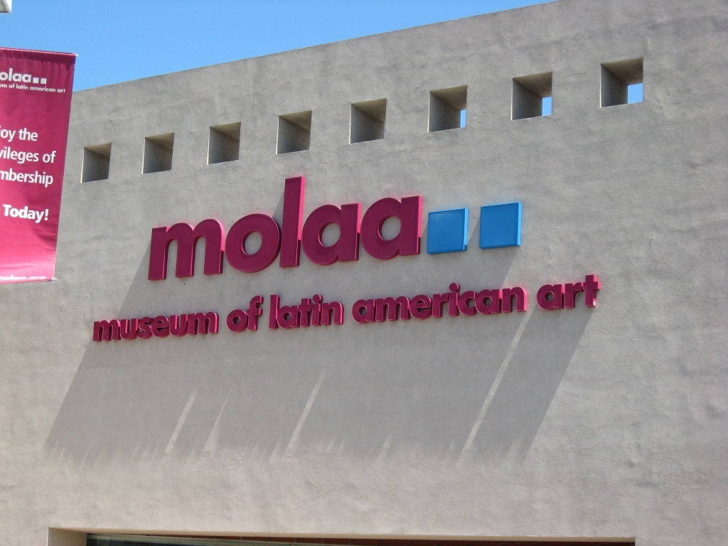 Outside the Museum of Latin American Art in Long Beach, California. MOLAA is the only museum in the United States dedicated to modern and contemporary Latin American art. (Could this be Santa Fe, New Mexico, or what?)