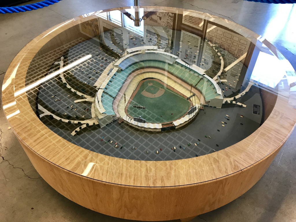 The original model of Dodger Stadium that Walter O'Malley had in his office.
