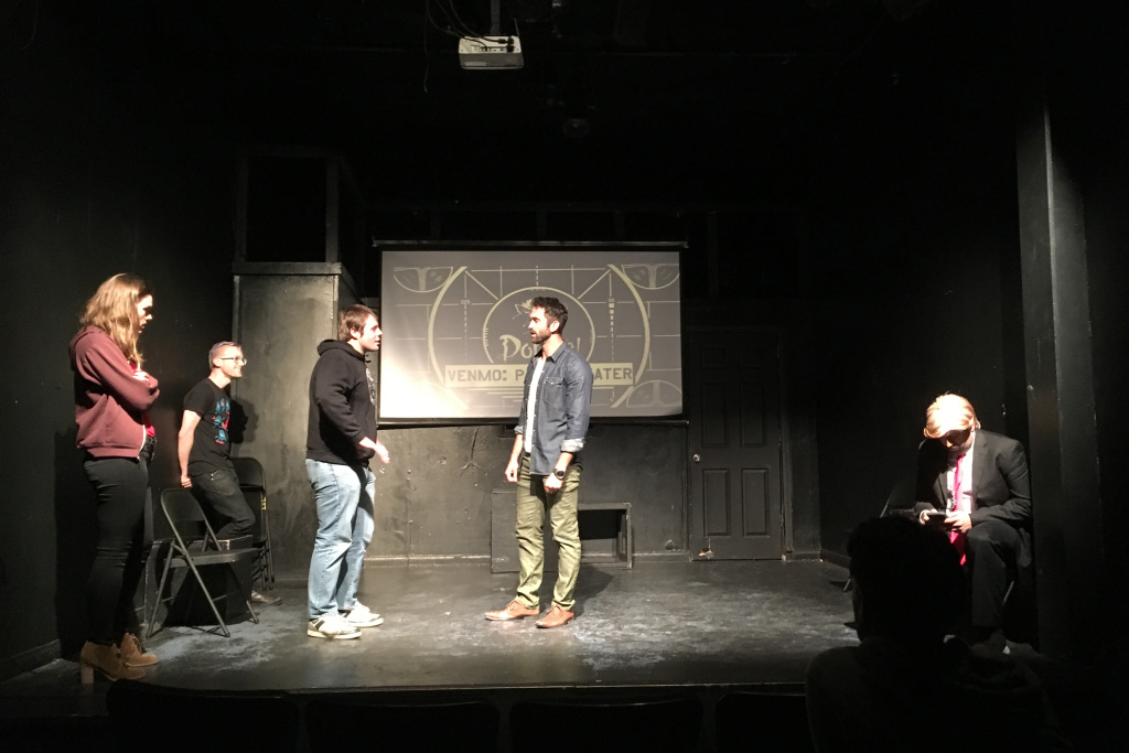 The Pack Theater's improv team Rat Throat performs in Trumprov.