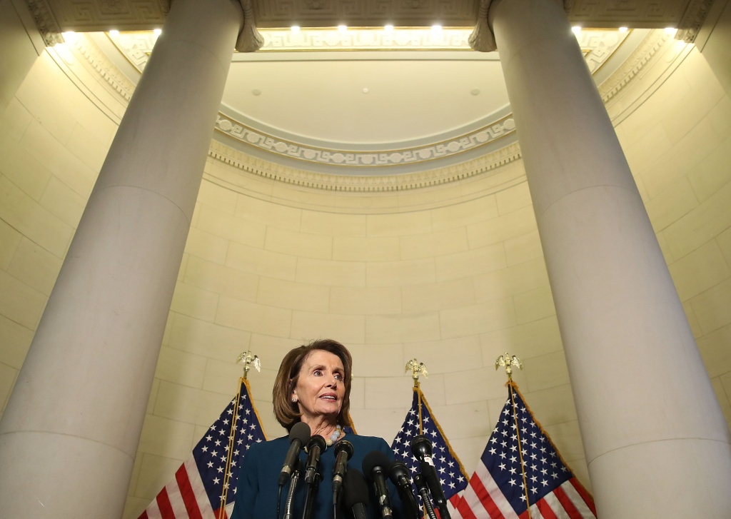 House Minority Leader Nancy Pelosi (D-CA), speaks to the media after winning the House Democratic leadership election on Capitol Hill, November 30, 2016 in Washington, DC.