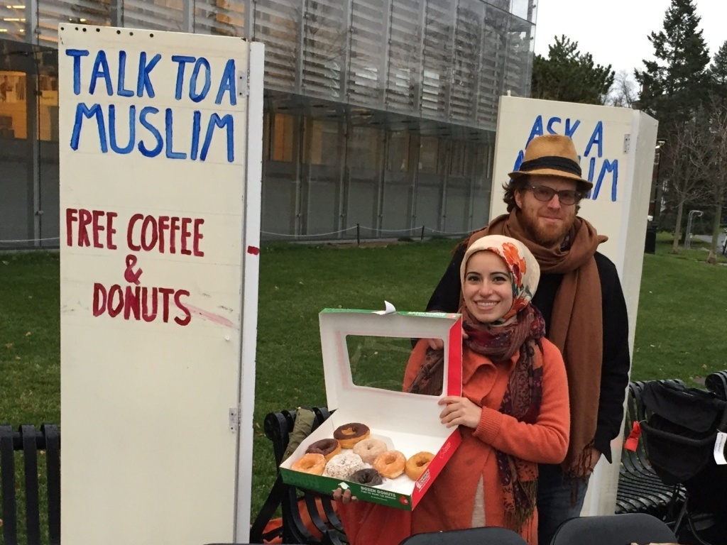 The conversation was edifying and rewarding, Haydar says — but the doughnuts weren't bad, either.