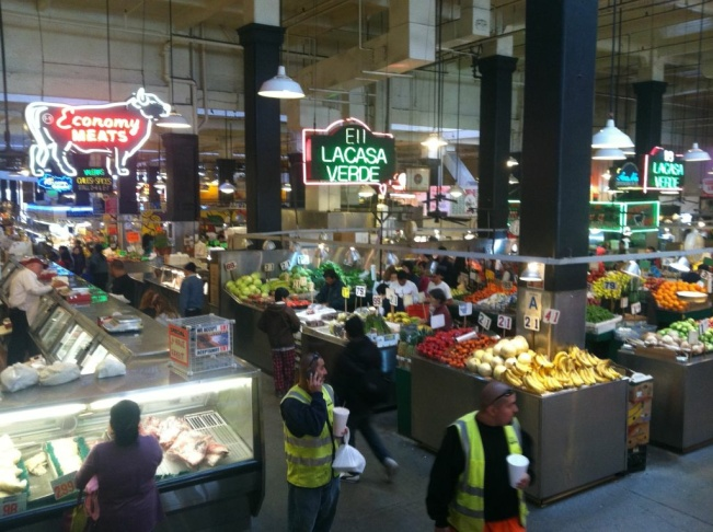 Grand Central Market from Hill Street