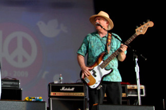 James Gurley, along with members of Big Brother and the Holding Company played during the Heros of Woodstock concert at Bethel Woods Center for the Arts in Bethel, N.Y. Saturday, Aug. 15, 2009, marking the 40th anniversary of the original 1969 Woodstock concert.
