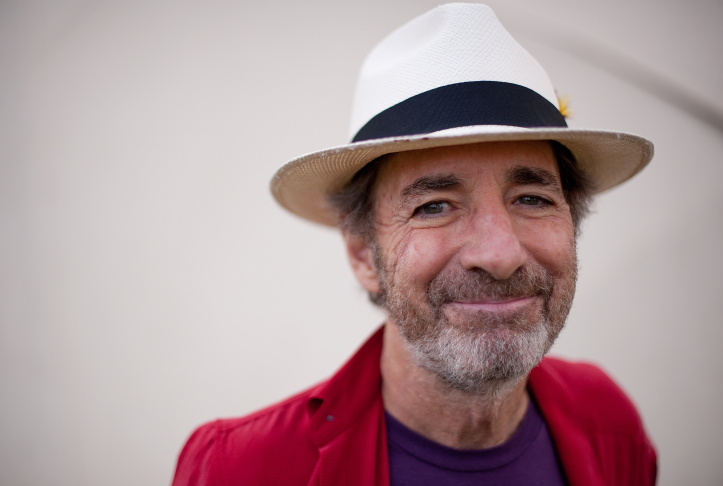 US actor and comedian Harry Shearer prepares to speak in the Words in Motion tent at the Big Chill festival near Ledbury in Herefordshire on August 8, 2010.