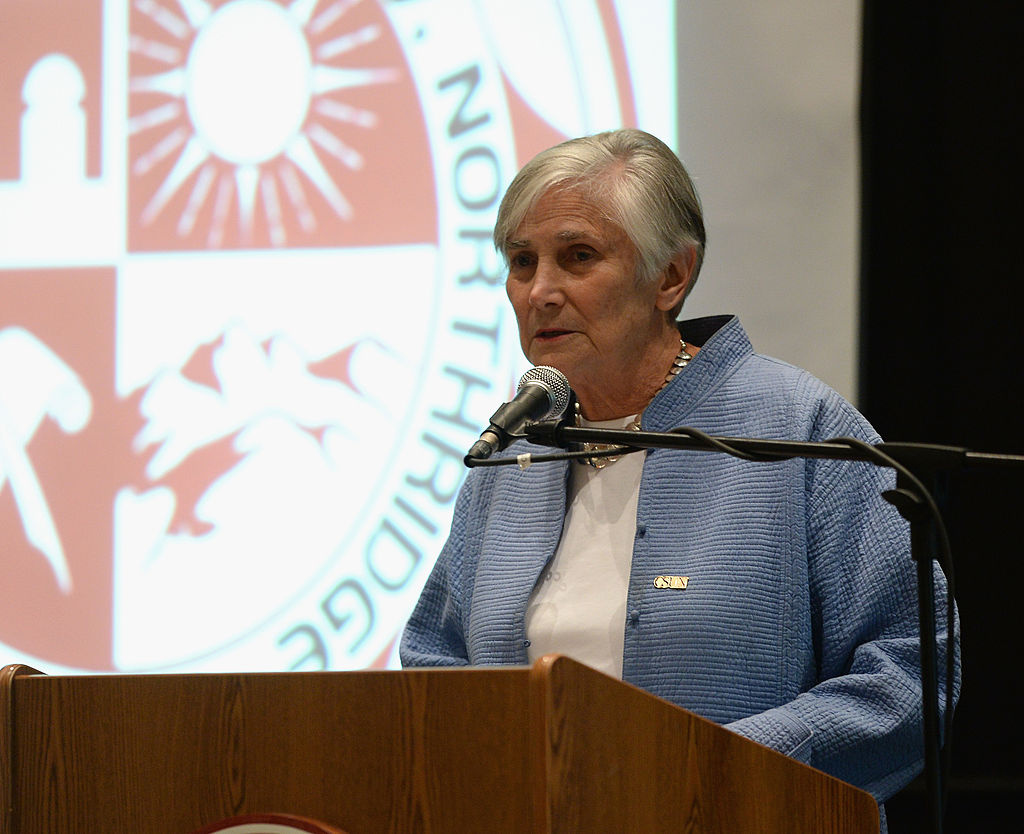 Former U.S. Assistant Secretary Of Education Diane Ravitch speaks at the Education on the Edge Lecture Series at California State University Northridge on October 2, 2013 in Northridge, California.