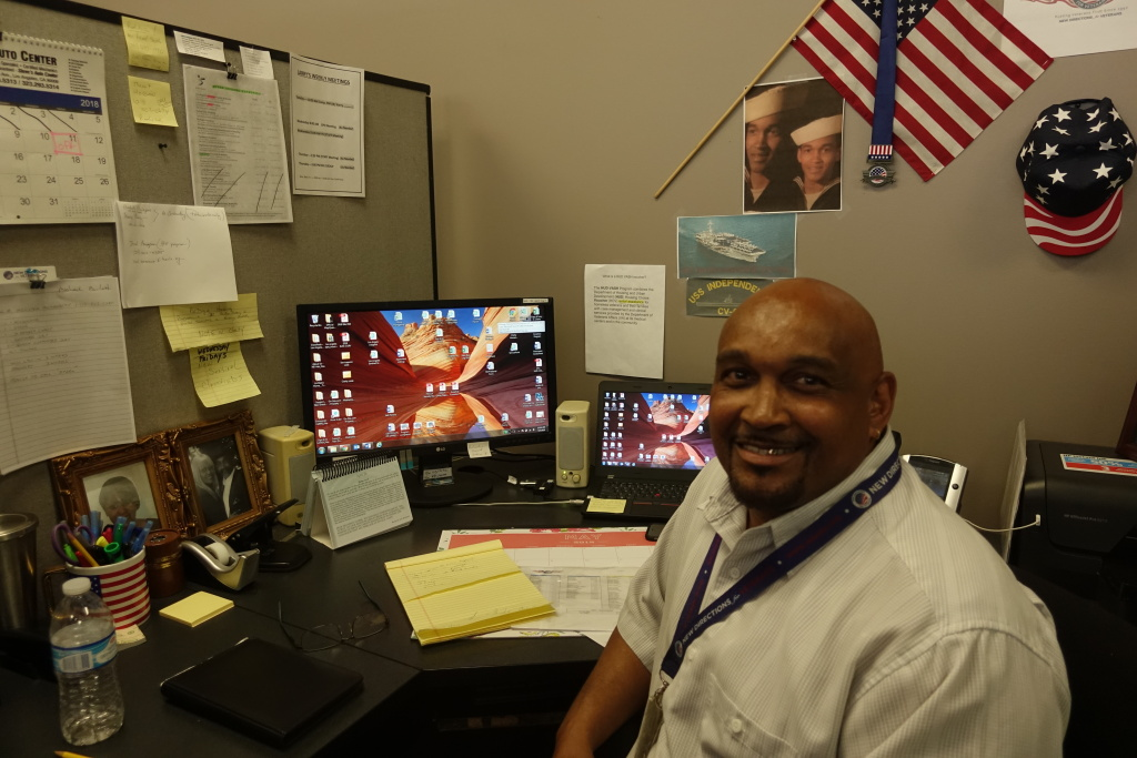 Larry Gray is a housing navigator for the non-profit New Directions for Veterans.