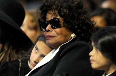 Paris Michael Katherine Jackson, Katherine Jackson and Prince Michael II attend Michael Jackson's Public Memorial Service held at Staples Center on July 7, 2009 in Los Angeles, California.