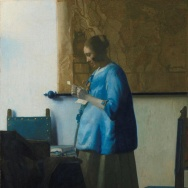 Woman in Blue Reading a Letter, c. 1663–64. Johannes Vermeer.
