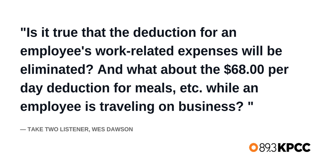 A tax question from listener Wes Dawson.