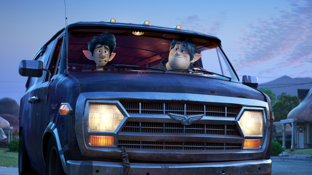 Ian (voiced by Tom Holland) and his older brother Barley (voiced Chris Pratt) set off on a distinctly suburban quest in <em>Onward</em>.