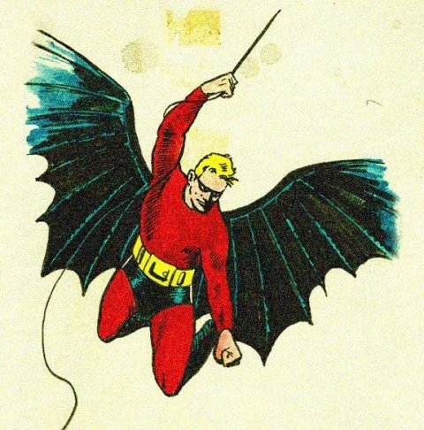 Bob Kane's original Batman illustration.