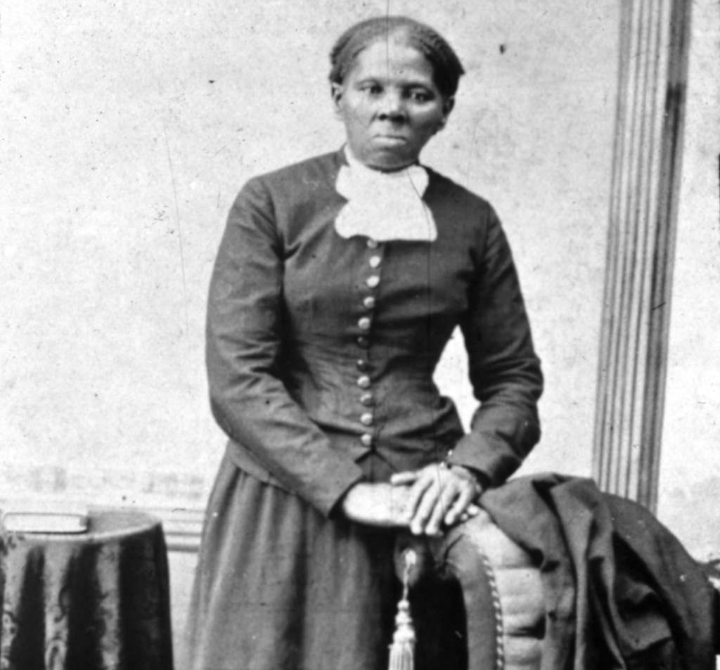 American abolitionist leader Harriet Tubman (1820-1913), who escaped slavery by marrying a free man and led many other slaves to safety using the abolitionist network known as the underground railway.