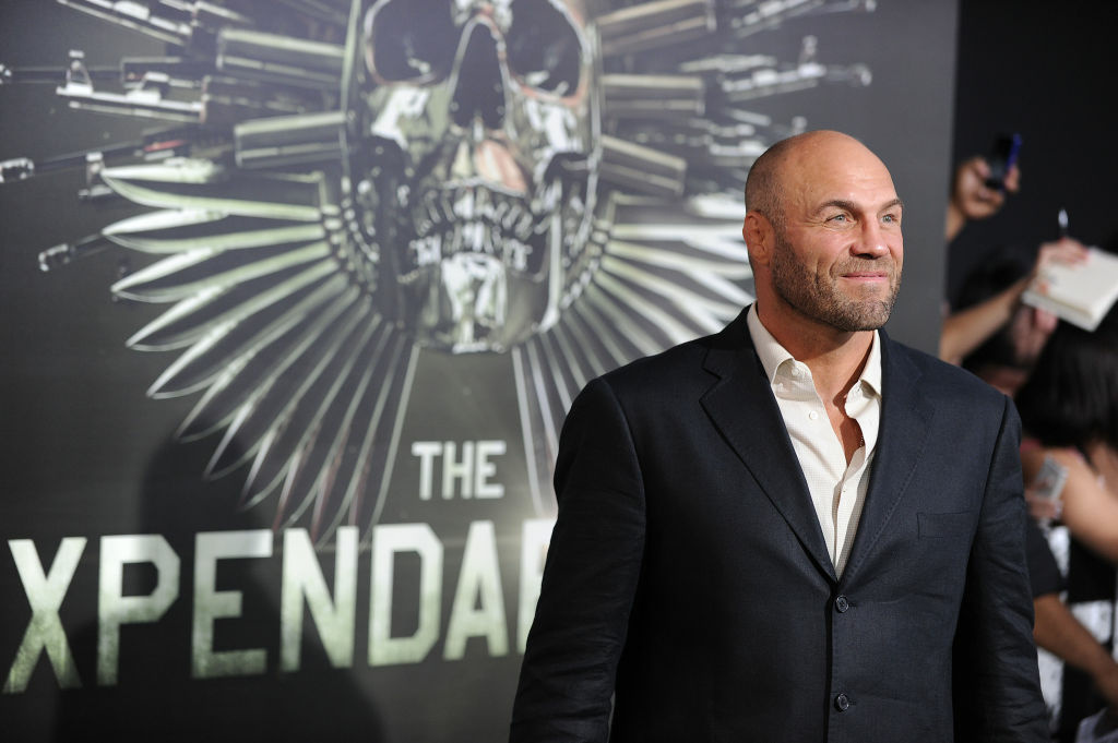 Cast member Randy Couture arrives at the film premiere of 'The Expendables 2' at Grauman's Chinese Theatre in Hollywood California on August 15, 2012.