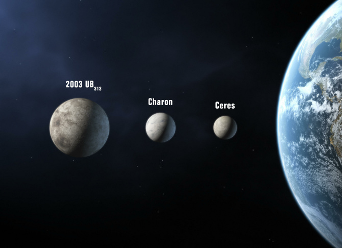 An artist's rendition of Ceres, a dwarf planet approximately the size of Texas.