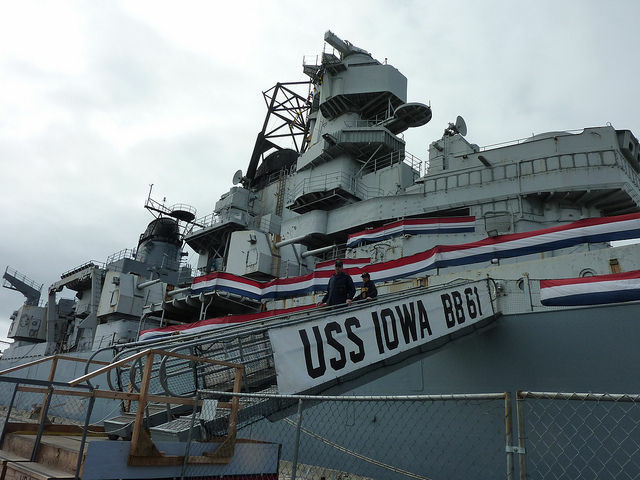 The Uss Iowa S Final Days At Terminal 3 In Richmond Calif Before It Heads