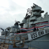 The USS Iowa's final days at Terminal 3 in Richmond, Ca,