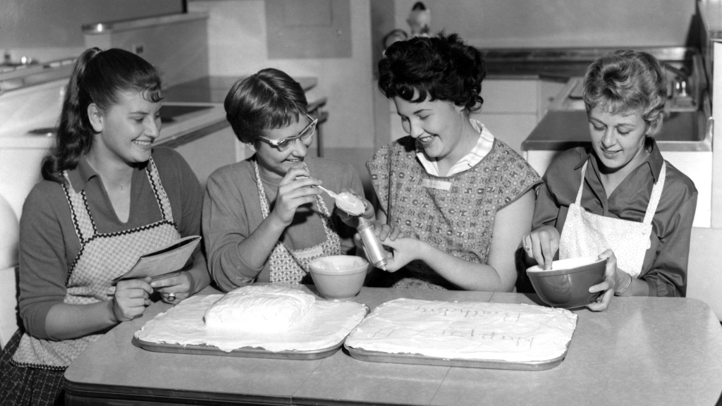 In mid-century home economic classes, girls learned to cook for their future husbands while boys took shop. But now kids might learn about healthy relationships or how to balance a bank account.