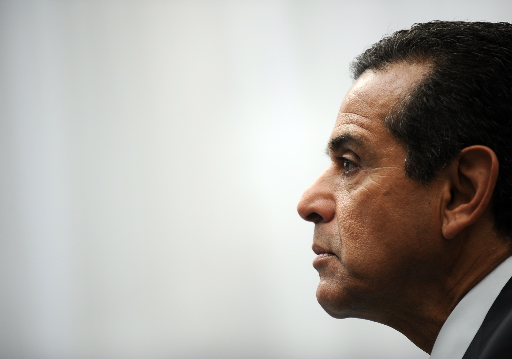 File photo: Mayor Antonio Villaraigosa in L.A. In Tampa, Villaraigosa told reporters Republicans can't use Latino speakers to swing Latino voters to their side.