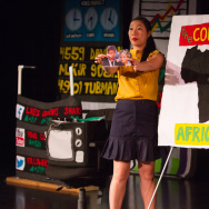 "Kristina Wong performs her show ""The Wong Street Journal."""