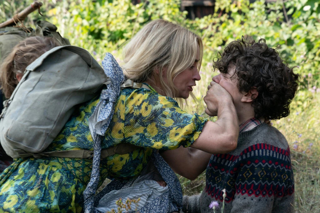 """Still of Emily Blunt and Noah Jupe in the film """"A Quiet Place Part II."""""""