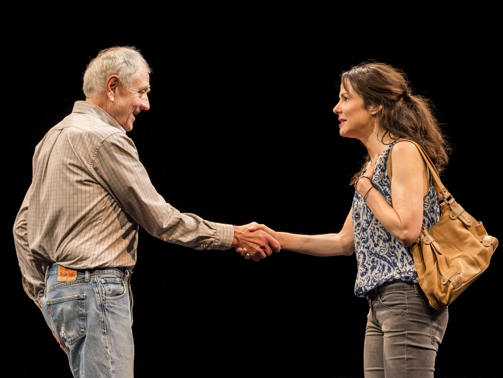 "Denis Arndt and Mary-Louise Parker in ""Heisenberg."" Written by Simon Stephens and directed by Mark Brokaw. (Photo by Craig Schwartz)"