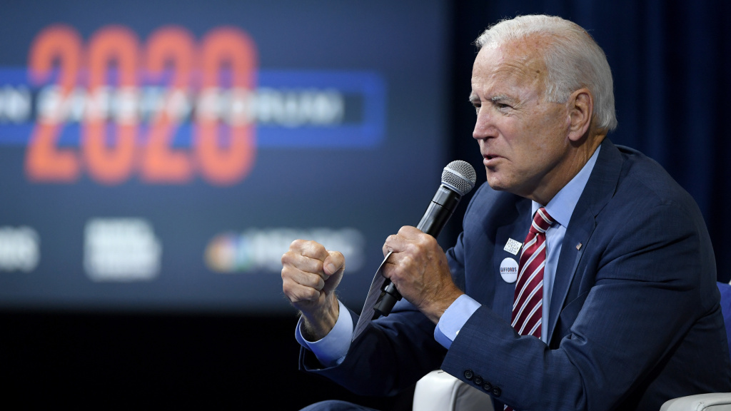 As a candidate, Joe Biden spoke at a candidate forum hosted by the gun groups Giffords and March For Our Lives. He pledged to devote $900 million to community gun violence intervention efforts in cities with high rates of gun violence.