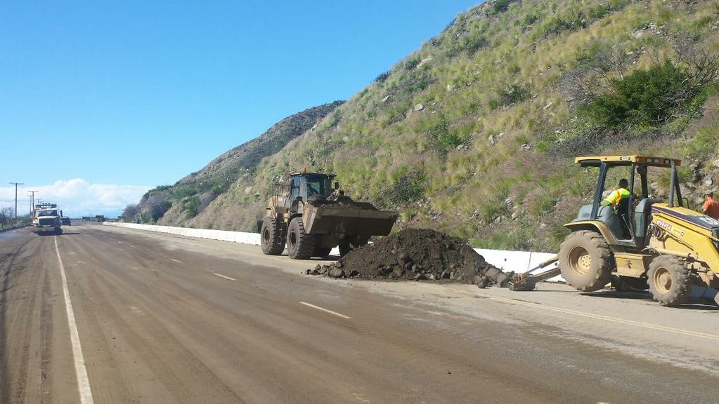 Road repairs on the Pacific Coast Highway