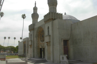 The beautiful Moorish chapel at the Jewish cemetery, across the street from the Catholic Cemetery. Inside, Carl Laemmle and many other LA luminaries.