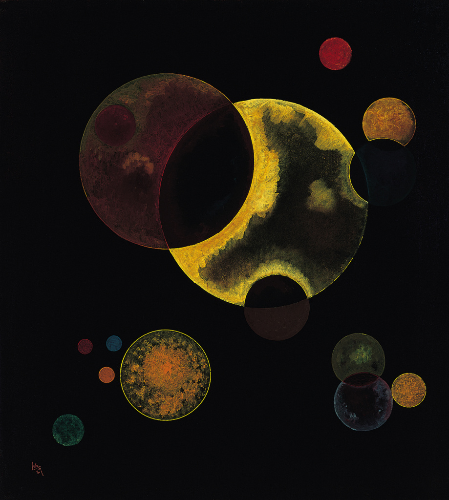 Heavy Circles, 1927; Vasily Kandinsky (Russian, 1866-1944); Oil on canvas.