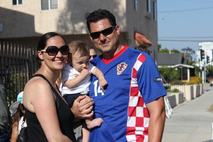 Three-year-olds Roko Bilan and Aiden Zuvich don the jerseys of the Croatian national team.