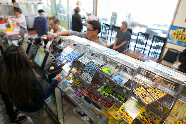 Launderland, a store in Orange County, Calif. has a large selection of lottery tickets available for customers, who play the lottery at higher rates than other counties in Southern California.