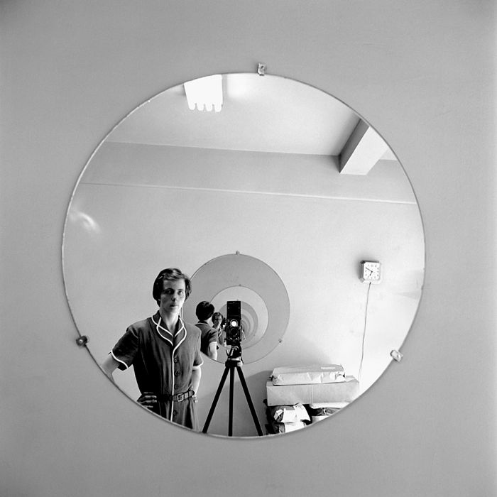 A Vivian Maier self-portrait. She's the subject of the new biography by Pamela Bannos,