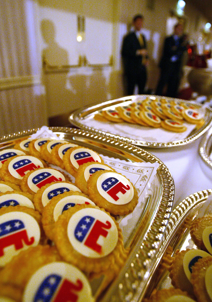 NEW YORK - JULY 25: Republican elephant cookies sit on a table at the Republican National Committee summer meeting July 25, 2003 at the Waldorf Astoria in New York City. Republican party leaders are spending four days discussing plans for the 2004 Republican National Convention at Madison Square Garden in New York City.