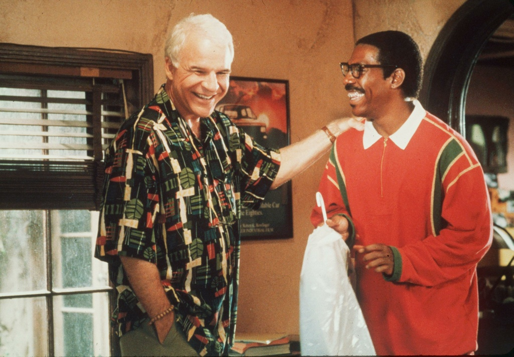 Steve Martin and Eddie Murphy star in the 1999 movie Bowfinger.