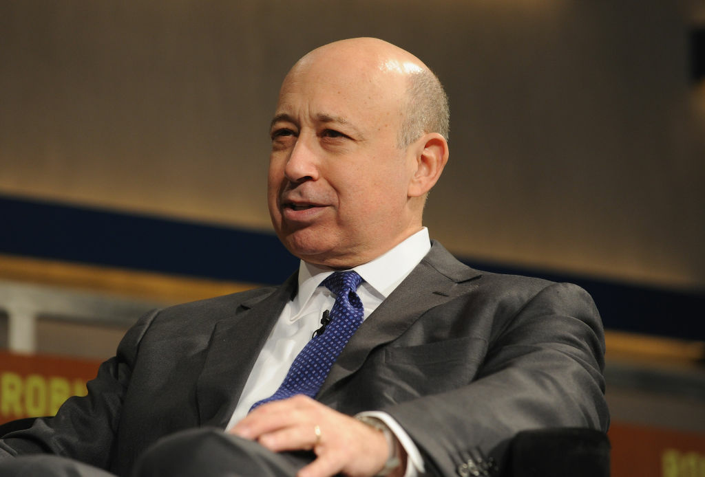 Lloyd Blankfein, Chairman and CEO, Goldman Sachs Group, Inc. speaks at Intrepid Sea-Air-Space Museum on May 7, 2012 in New York City.