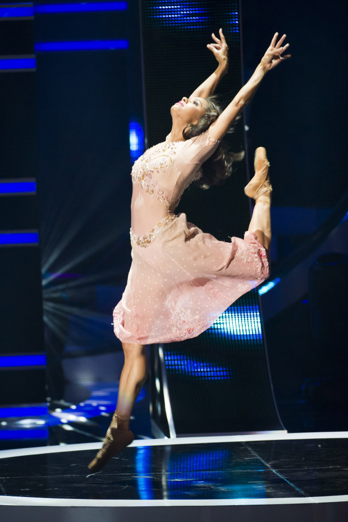 In this Oct. 26, 2013 file photo, Misty Copeland dances at BET Networks' Black Girls Rock! in Newark, N.J. There was palpable emotion and a clear sense of history in the air as Misty Copeland made her New York debut Wednesday, June 24, 2015, in the lead role of