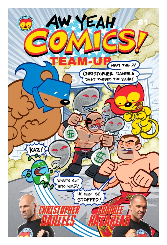 A comic book created by and featuring pro wrestlers Christopher Daniels and Frankie Kazarian.