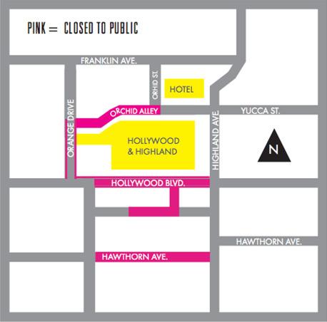Oscars street closures Feb. 20