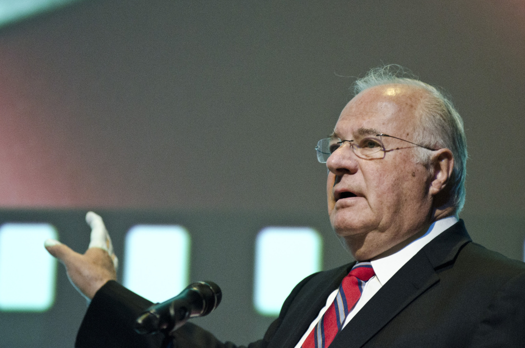 File: Joe Ricketts speaks during the premiere of