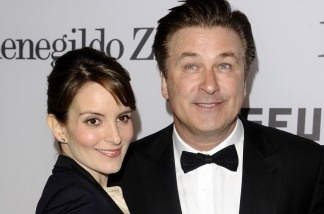 '30 Rock' co-stars Tina Fey and Alec Baldwin.