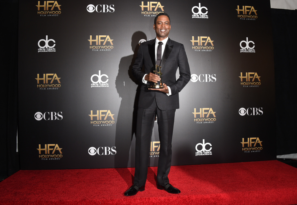 Actor/director Chris Rock, winner of Hollywood Comedy Film for 'Top Five,' poses in the press room during the 18th Annual Hollywood Film Awards at The Palladium on November 14, 2014 in Hollywood, California.